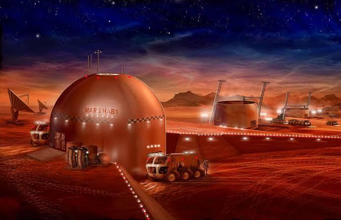 3D printed homes on Mars