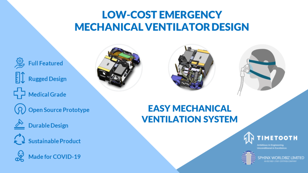 Open Source Low-cost Emergency Ventilator Design